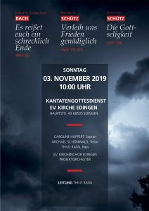 Konzertplakat Edingen 3.11.2019