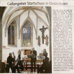 """Artikel Rheinpfalz Spitalkapelle """"Gelungener Startschuss in Deidesheim"""" 03/2020"""